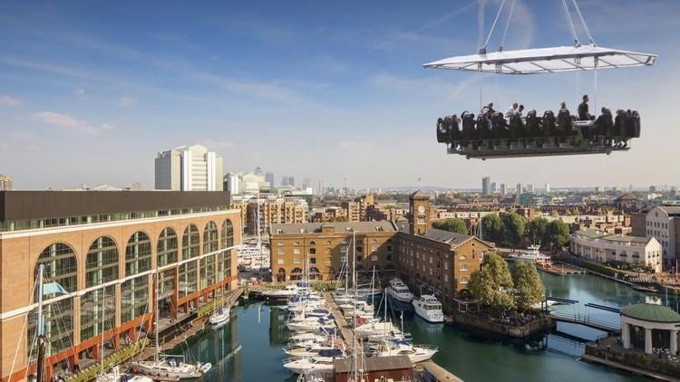 Quand un restaurant londonien envoie ses clients dans les airs