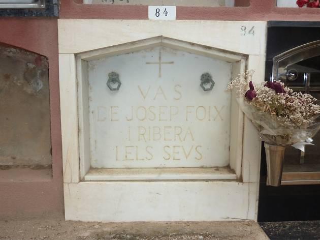 J.V. Foix, Cementiri de Sant Andreu