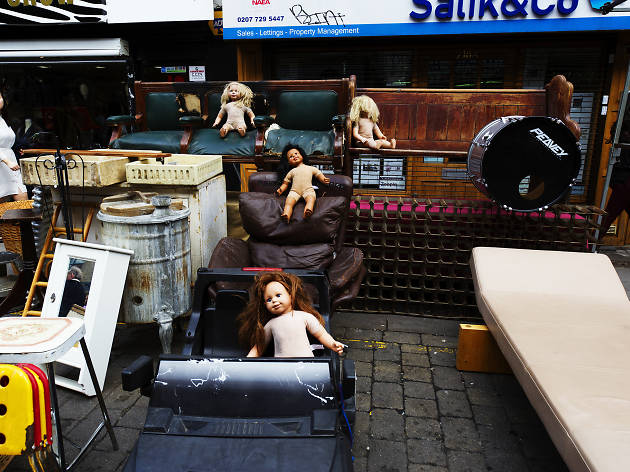 Dolls on the streets of London.