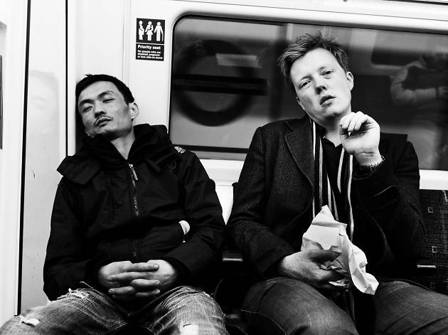Two men on the tube.