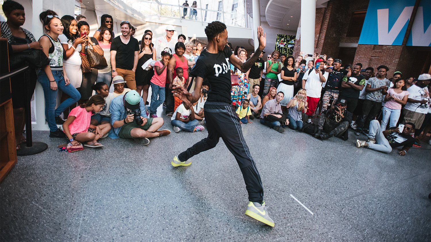See these energetic photos from the Brooklyn Museum's dance off