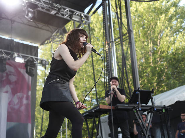 Chvrches took the stage at Union Park on the first day of Pitchfork Music Festival, July 17, 2015.