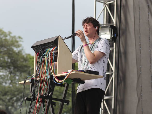 Panda Bear took the stage at Union Park on the first day of Pitchfork Music Festival, July 17, 2015.