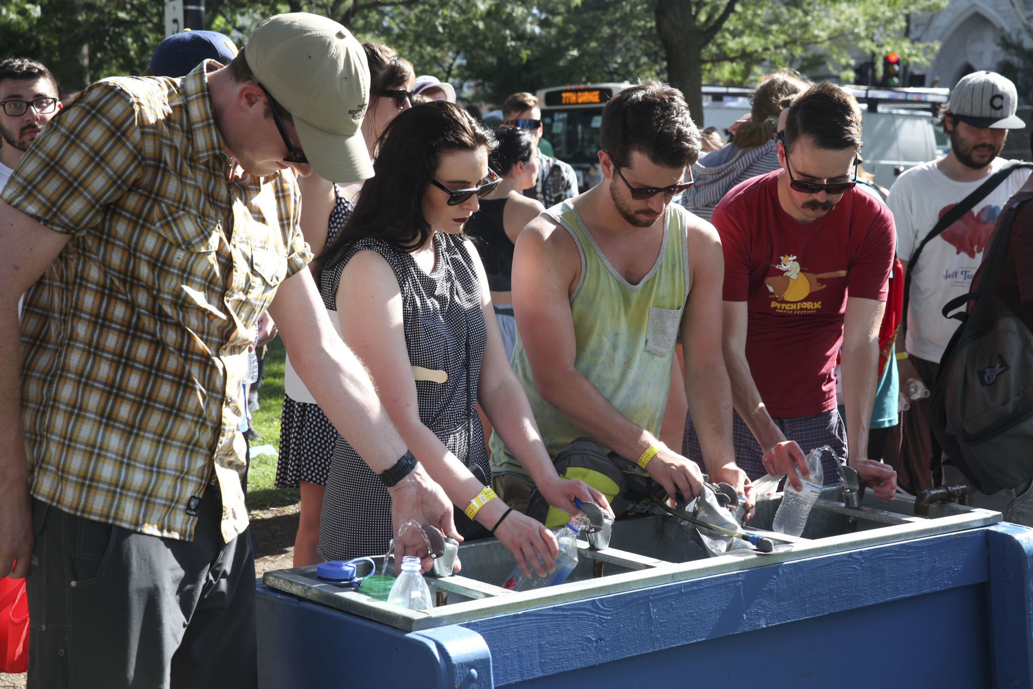 Crowds flocked to Union Park on Friday afternoon for the first day of Pitchfork Music Festival, July 17, 2015.