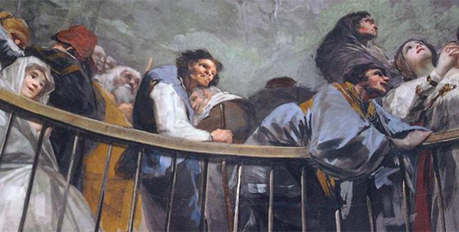 Contemplar los frescos de Goya en la Ermita de San Antonio de la Florida