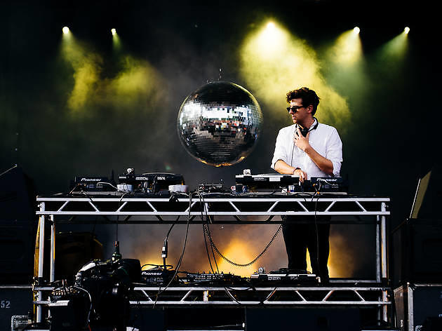 Jamie XX played to a sold out crowd under stormy skies on Sunday at Pitchfork Music Festival, July 19, 2015.