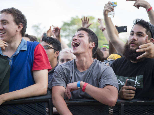 Attendees showed up prepared for a day of rain and music on Sunday at Pitchfork Music Festival, July 19, 2015.
