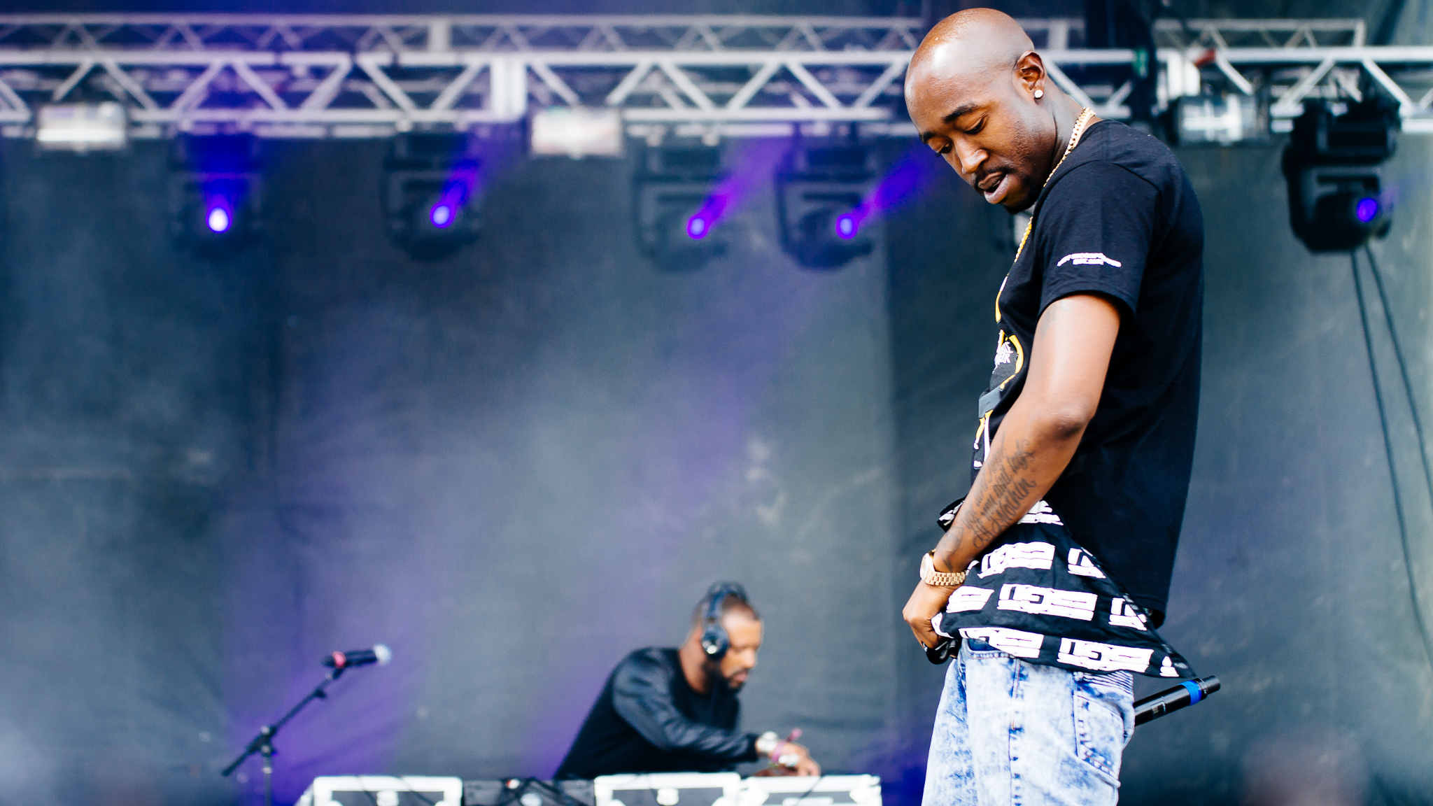 Madlib & Freddie Gibbs played to a sold out crowd under stormy skies on Sunday at Pitchfork Music Festival, July 19, 2015.