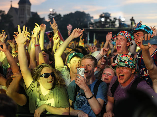 Attendees showed up prepared for a beautiful day of music on Sunday at Pitchfork Music Festival, July 19, 2015.