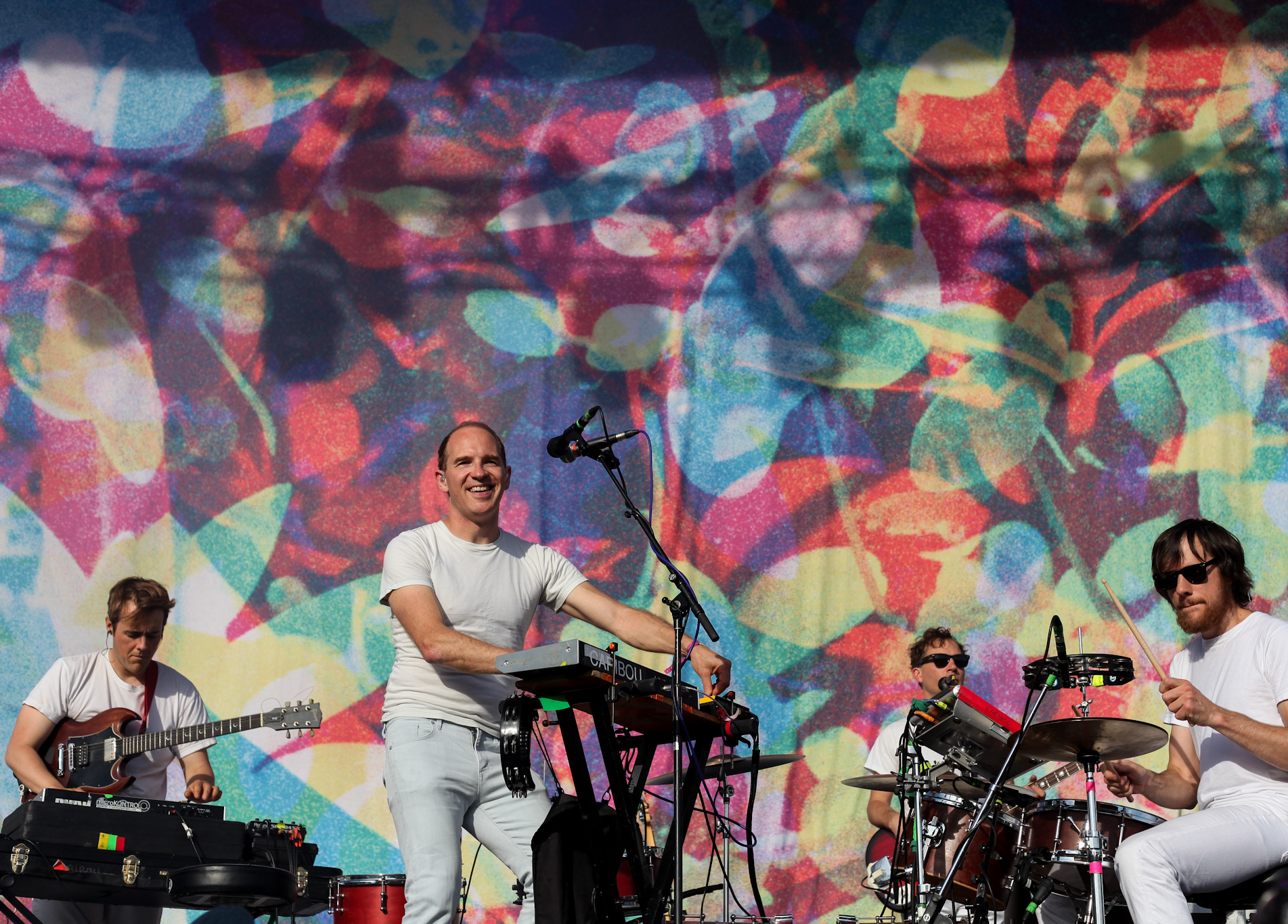 Caribou helped close out the weekend, playing to a sold out crowd on Sunday at Pitchfork Music Festival, July 19, 2015.