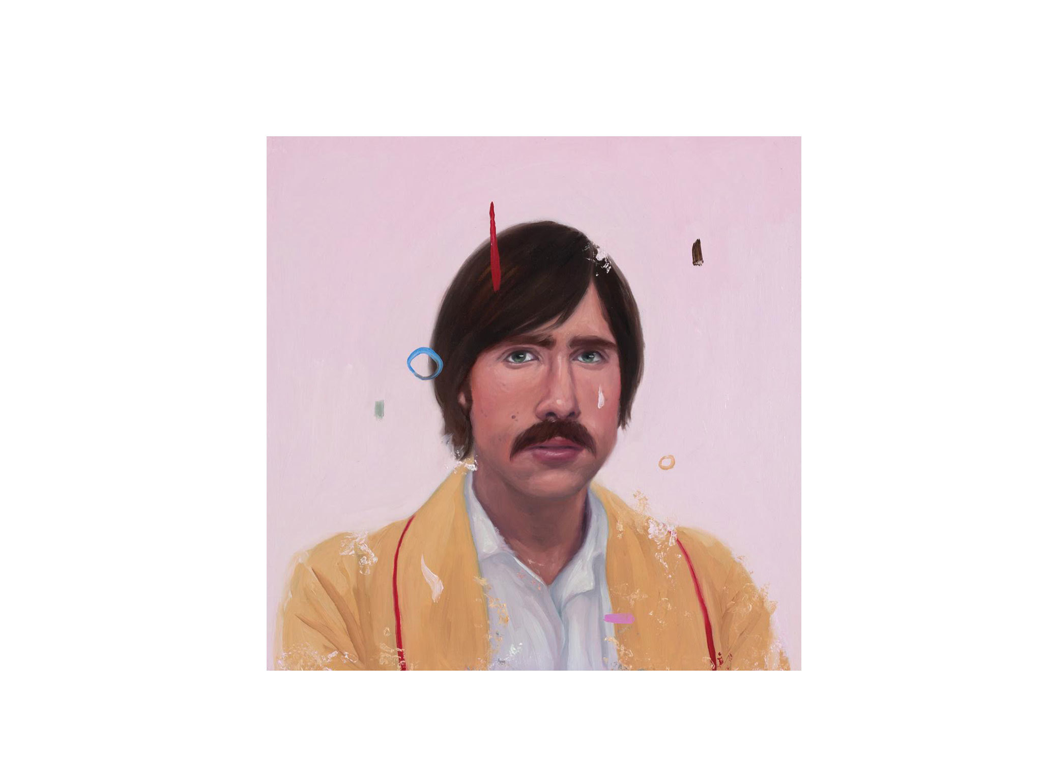 Valentin Fischer paints for Bad Dads VI - an artshow tribute to the films of Wes Anderson