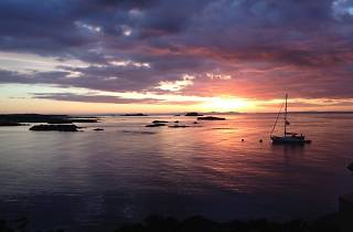 Sunset at North Berwick
