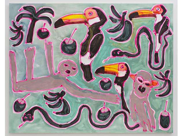 Katherine Bernhardt, Jungle with Sloth, 2015