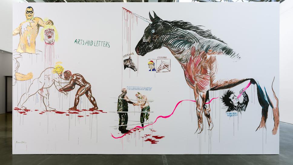 Raymond Pettibon, No Title (Arts and letters…), 2015