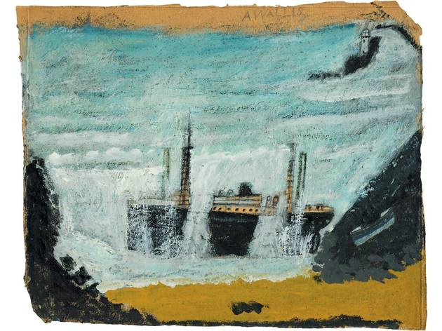 (Alfred Wallis: 'Shipwreck 1 - The Wreck of the Alba', '1938-40'. Courtesy of Kettle's Yard, University of Cambridge)
