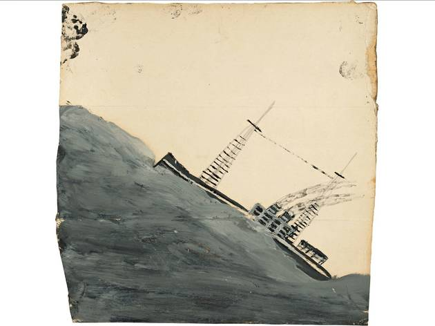 (Alfred Wallis: 'Motor vessel mounting a wave' no date. Courtesy of Kettle's Yard, University of Cambridge)