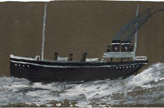 (Alfred Wallis: 'Death ship', 1941-42. Courtesy of Kettle's Yard, University of Cambridge)