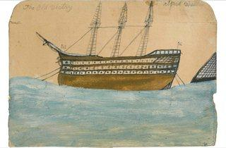 (Alfred Wallis: 'The Old Victry - HMS Victory', no date. Courtesy of Kettle's Yard, University of Cambridge)