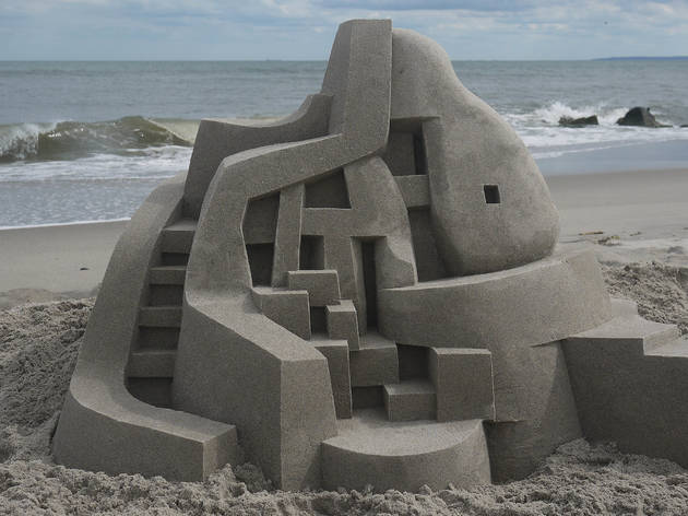 Sandcastle at Fort Tilden by Calvin Seibert