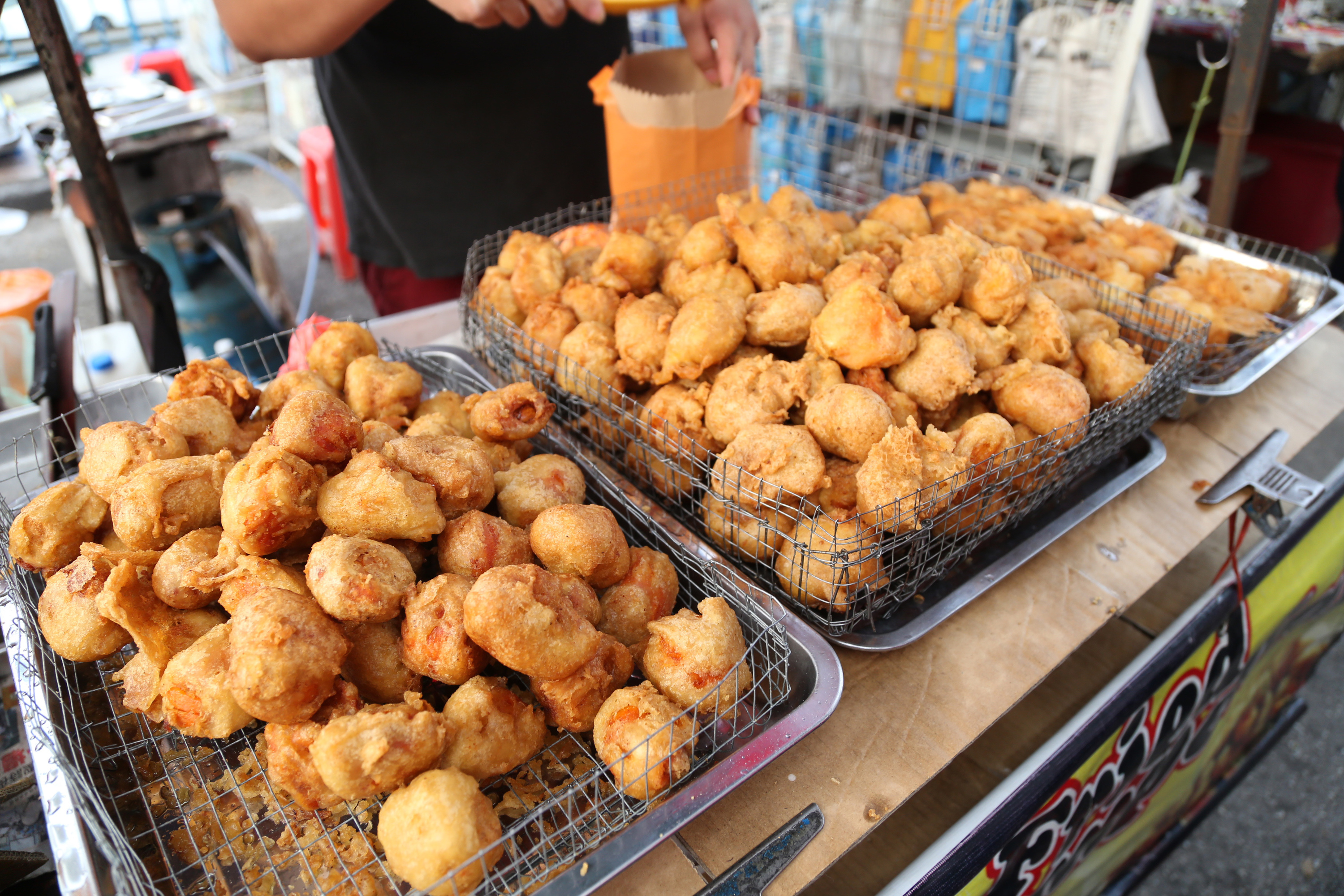 Fried durians