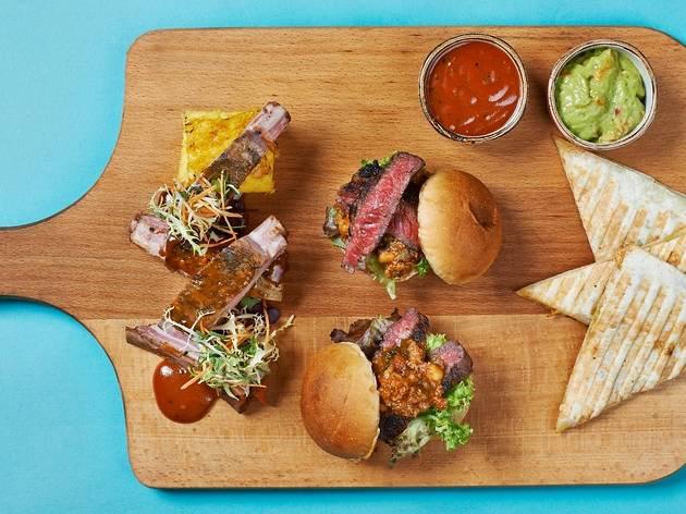 Texas Grill Board at Pool Bar & Grill@8