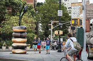 Giant Bagels have taken over Greenwich Village and Hudson River Park