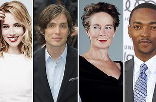 Actors (from left): Alona Tal; Cillian Murphy; Celia Imrie; Anthony Mackie