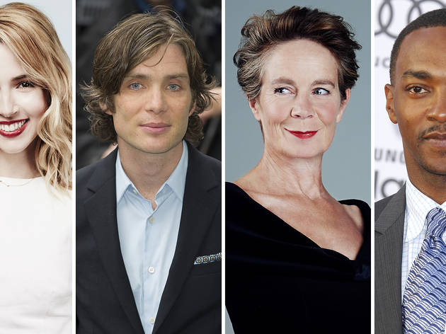 Actors (from left): Alona Tal; Cillian Murphy; Celia Imrie; Anthony Mackie