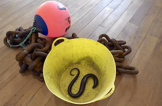 Charles Avery Untitled (Chain, Rope, Bucket, Buoy, Eels), 2015