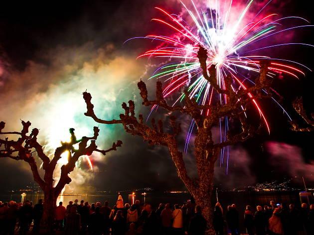 August 1 Fireworks in Ascona