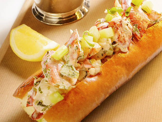 Maine lobster roll at the Polo Bar
