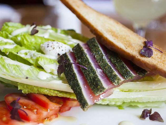 Sashimi Caesar Salad at Japonais