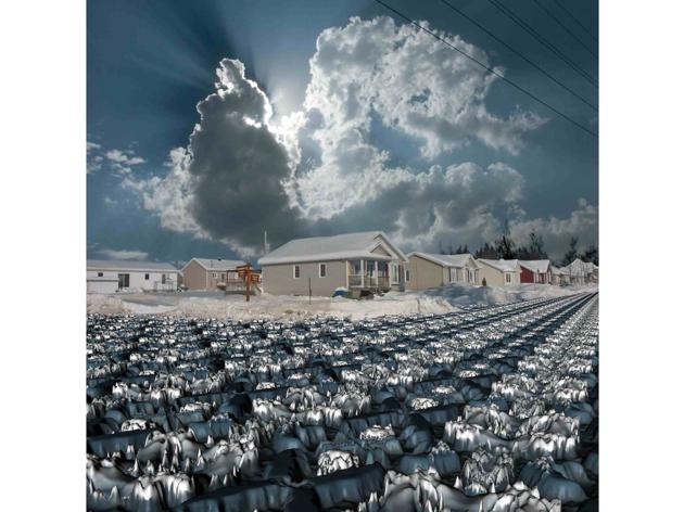 (Guillaume Krick & Benjamin Thomas, 'Erosions, paysages de banlieue d'Amérique du Nord (Québec, Canada)', 2008-2012 / ©Guillaume Krick & Benjamin Thomas)