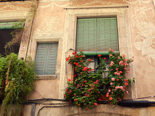 Beautiful windows in Barcelona's streets