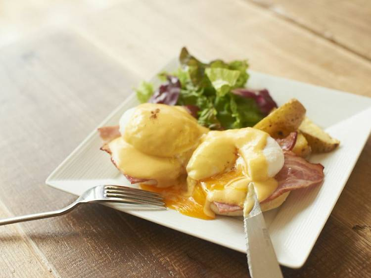 Start your day with eggs benedict