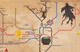 Forget the Hogwarts Express! There's now a Harry Potter tube map