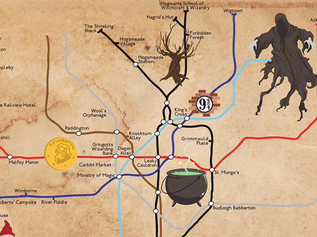 Forget the Hogwarts Express! There\'s now a Harry Potter tube map