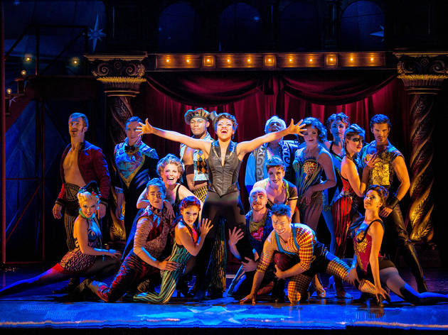Sasha Allen, center, and the national touring cast of Pippin
