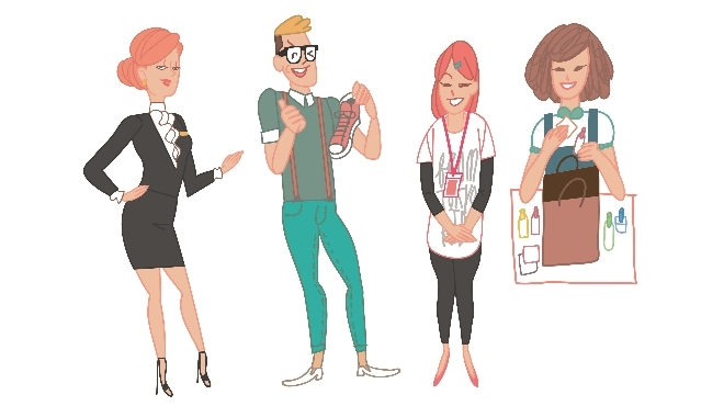 The eight species of retail assistants in KL