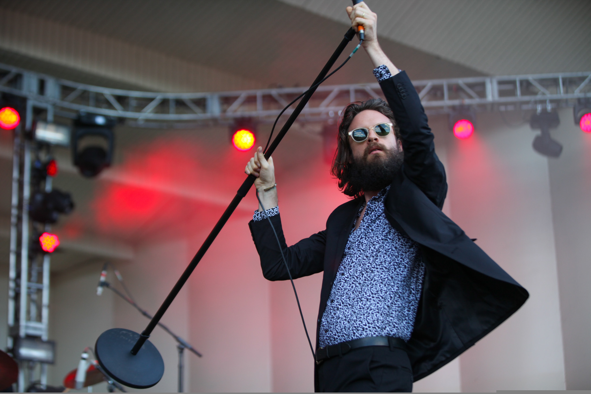 Father John Misty played to an enthusiastic audience during the first day of Lollapalooza on July 31, 2015.