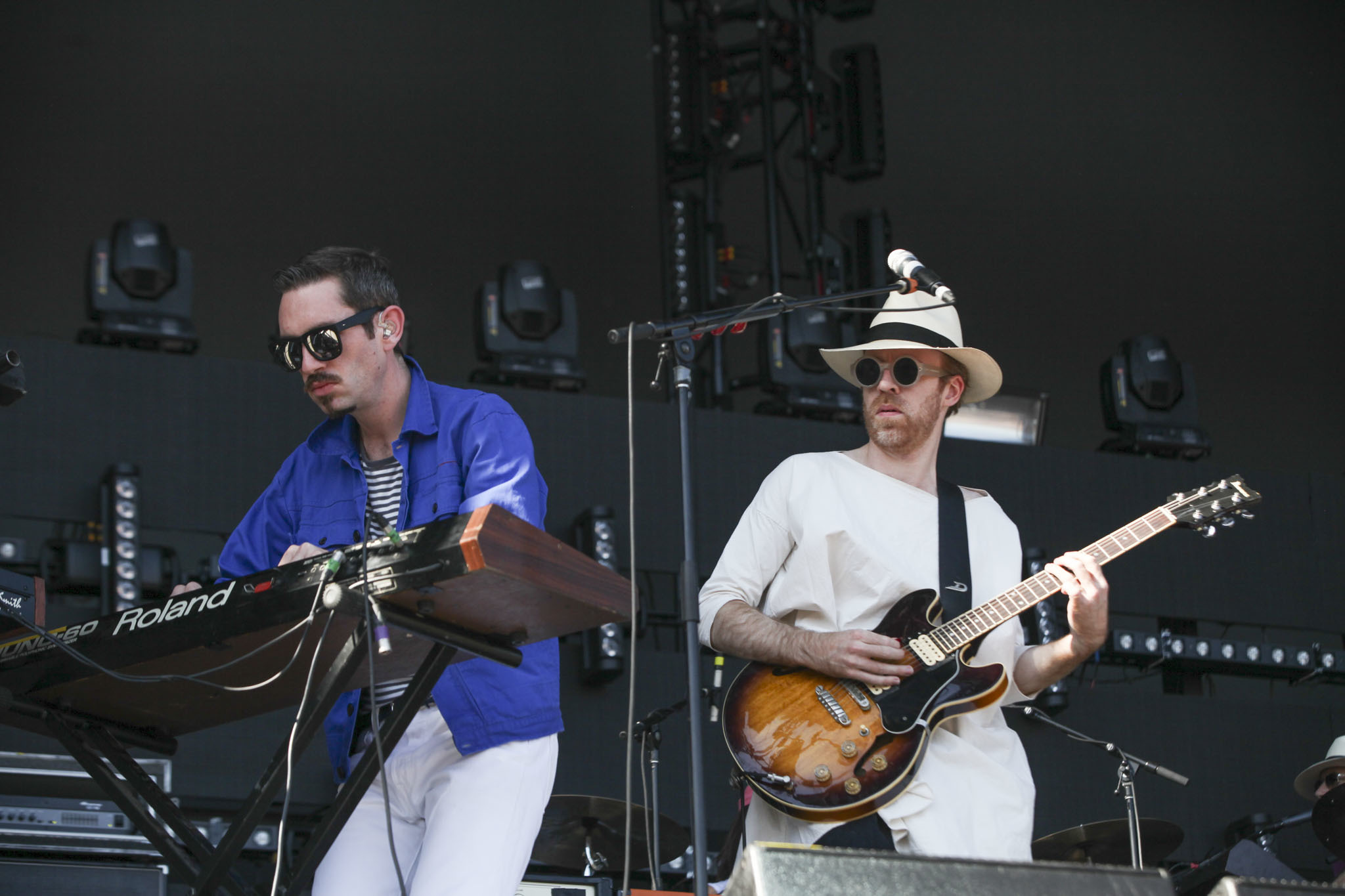 Hot Chip played to an enthusiastic audience during the first day of Lollapalooza on July 31, 2015.