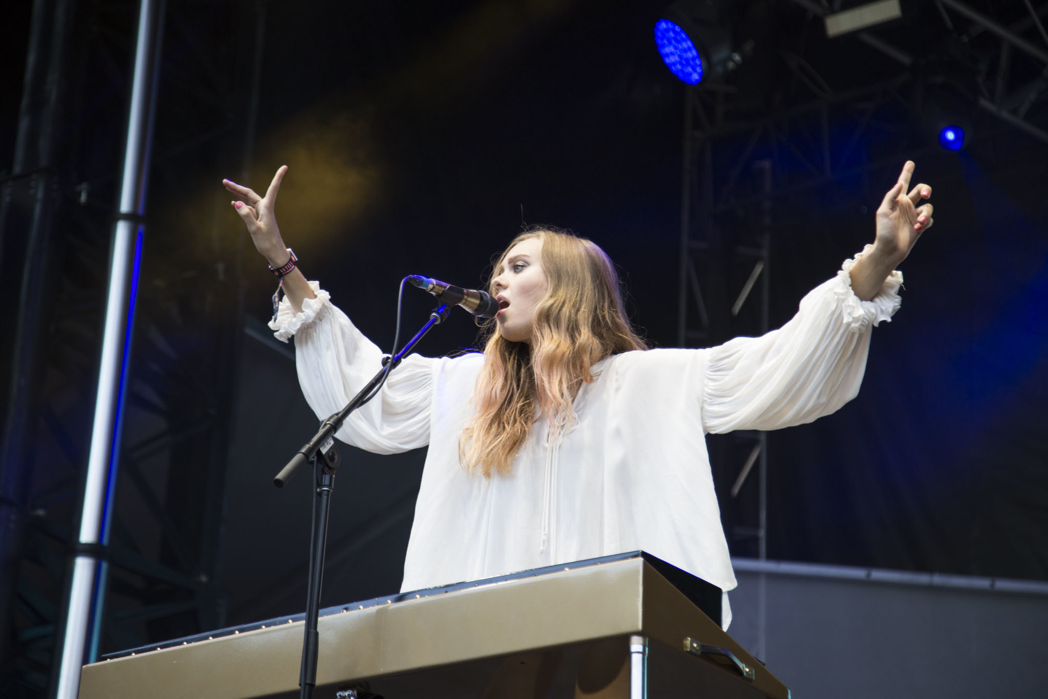 First Aid Kit played to an enthusiastic audience during the first day of Lolllapalooza on July 31, 2015.