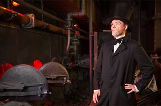 Image of actor dressed up as Brunel