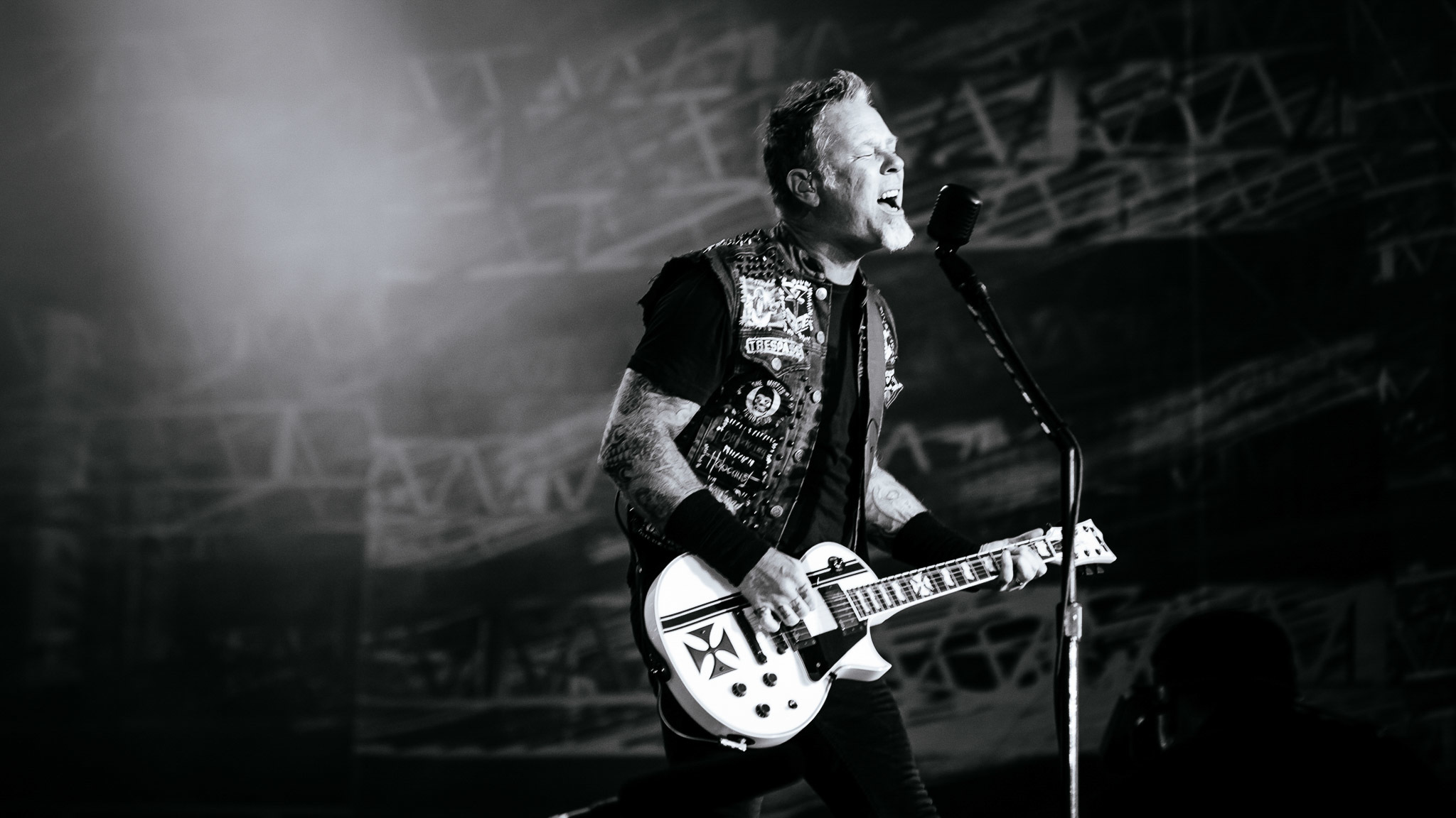 Metallica turned in a set in front of a crowd of thousands at Lollapalooza on August 1, 2015.