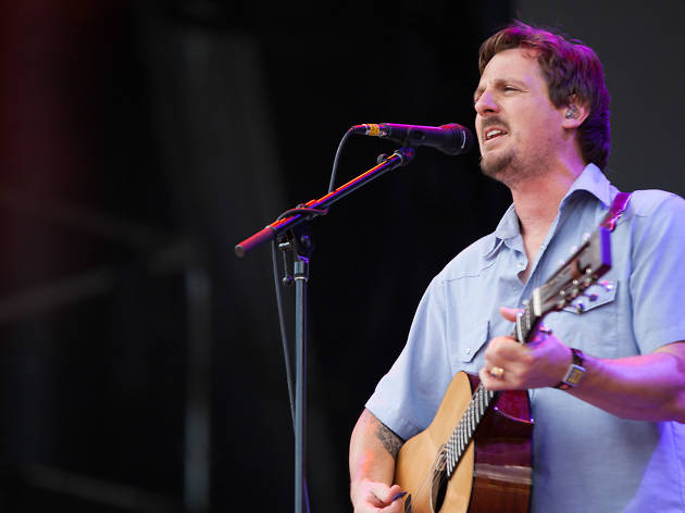 Sturgill Simpson turned in a set in front of a crowd of thousands at Lollapalooza on August 1, 2015.