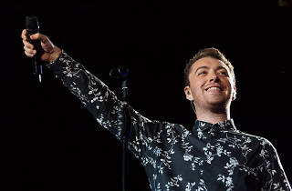 Sam Smith turned in a set in front of a crowd of thousands at Lolllapalooza on August 1, 2015.