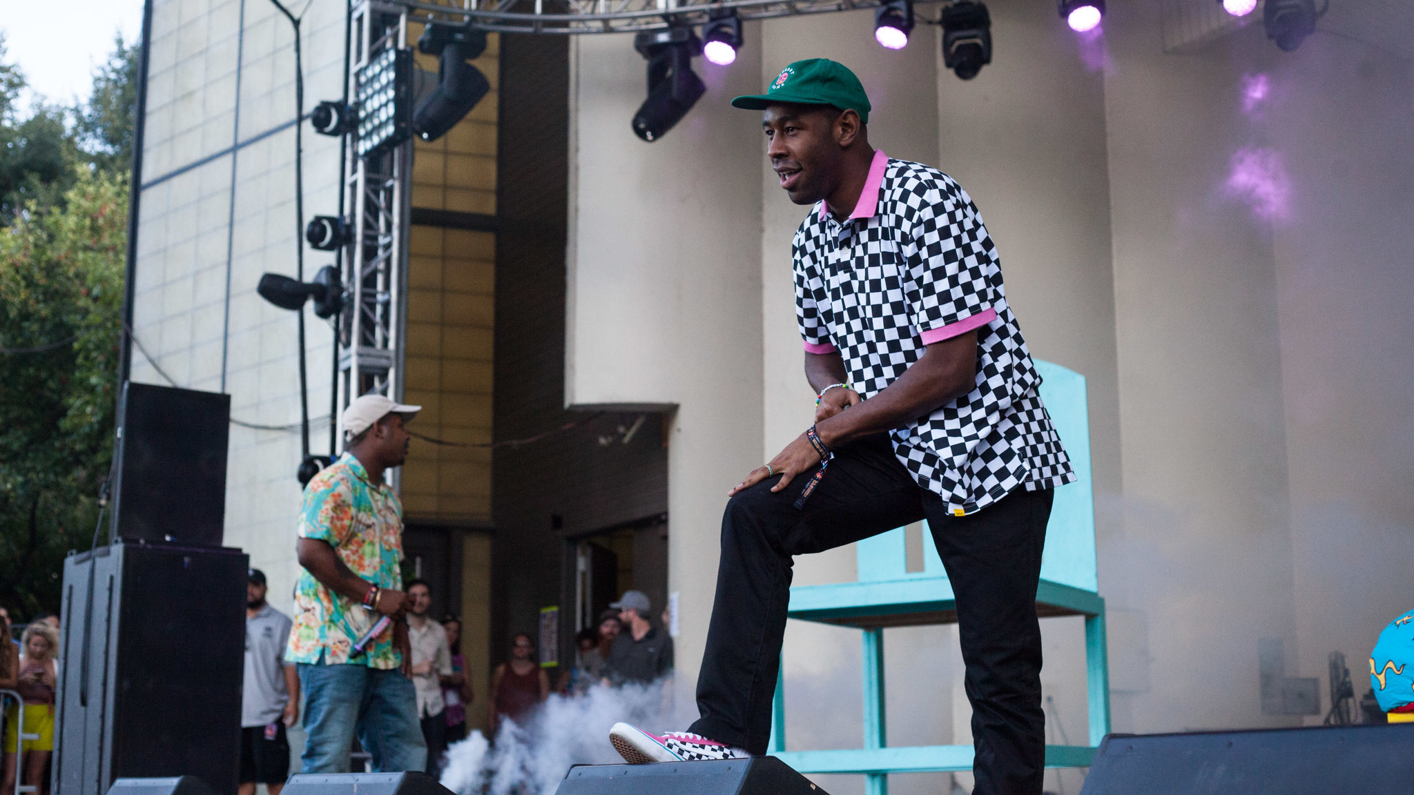 Tyler, The Creator turned in a set in front of a crowd of thousands at Lollapalooza on August 1, 2015.