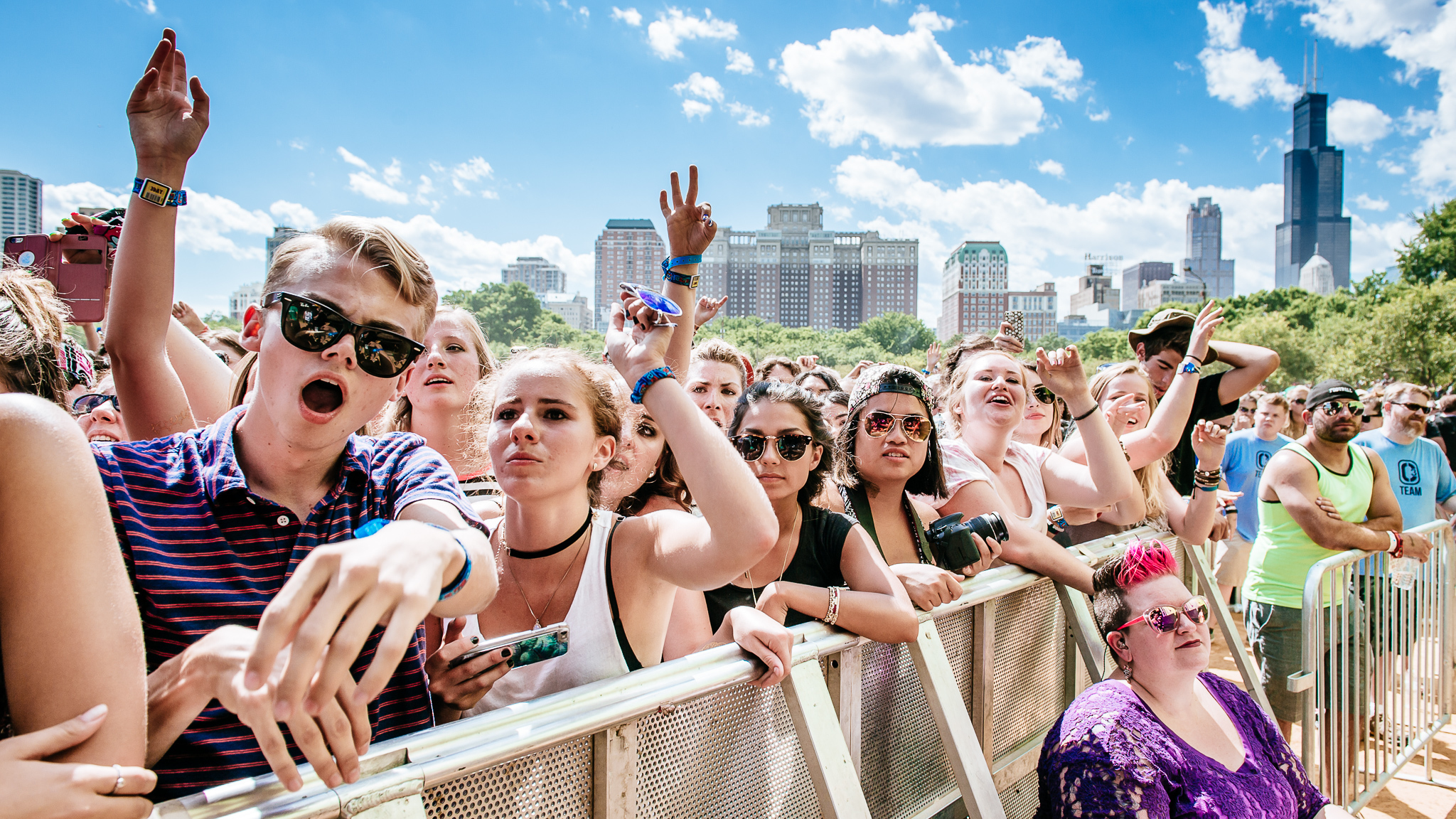 Grant Park was packed with music fans who came downtown for the second day of Lollapalooza on August 1, 2015.