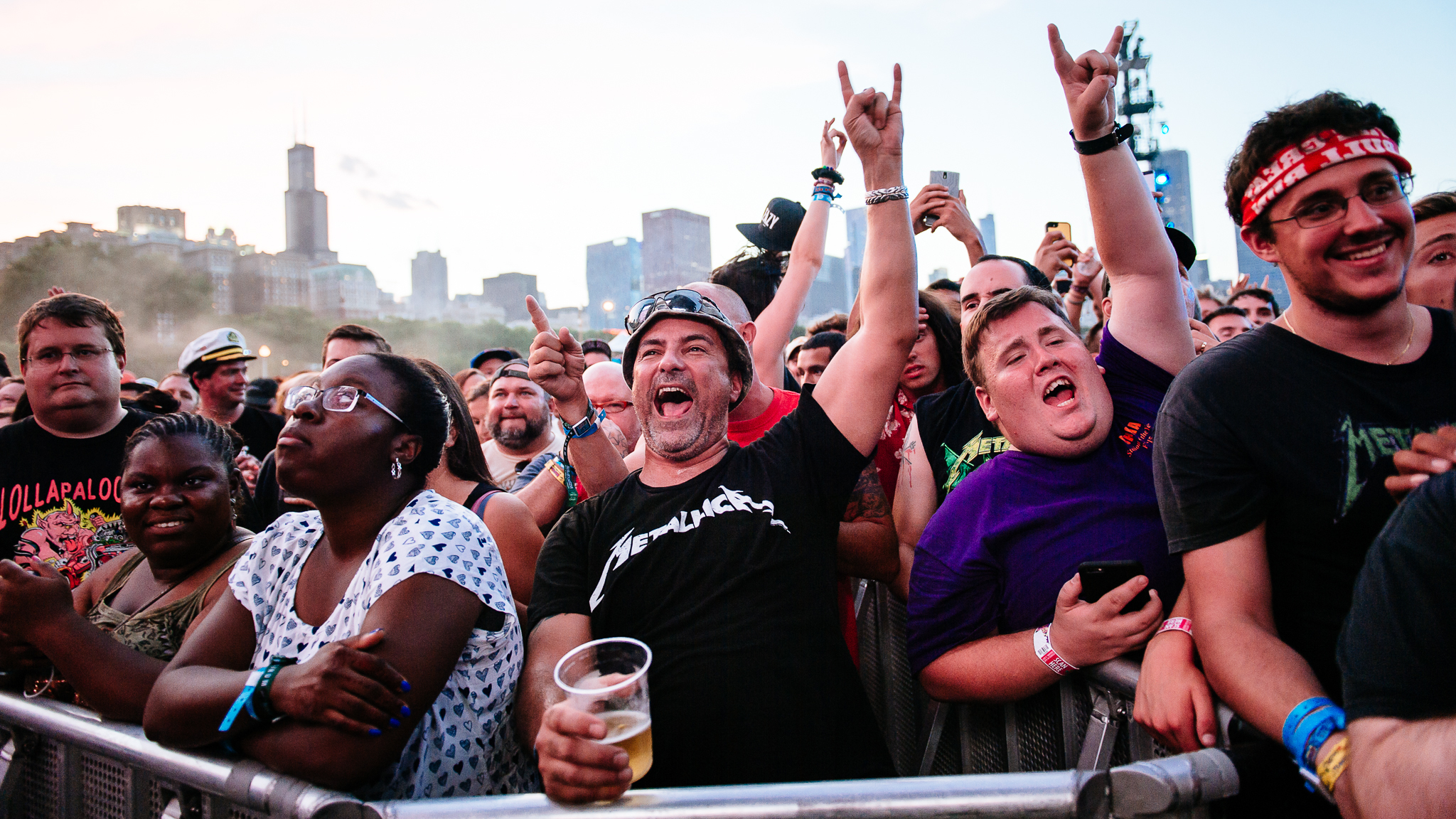 Lollapalooza 2015, Saturday: Faces in the crowd