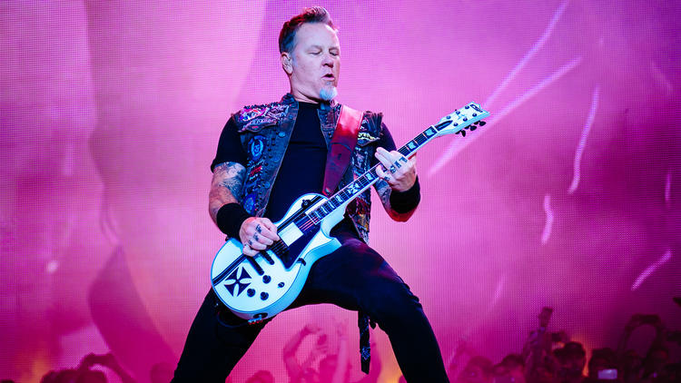 Metallica turned in a set in front of a crowd of thousands at Lolllapalooza on August 1, 2015.